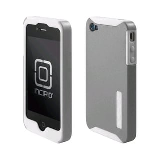 Incipio Silicrylic Gel Case for Apple iPhone 4/4S - White/Silver
