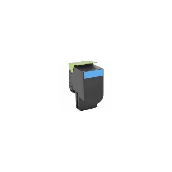 Lexmark 80C0XCG Lexmark Toner Cartridge - Cyan - Laser - Extra High Yield - 4000 Page Cyan - 1 Each