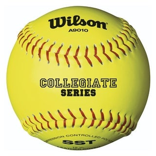 "Wilson Collegiate Polycore Leather Softballs (12""/Optic Yellow/12 Pack)"