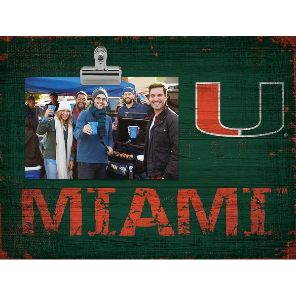 Miami Hurricanes Clip Frame. Opens flyout.