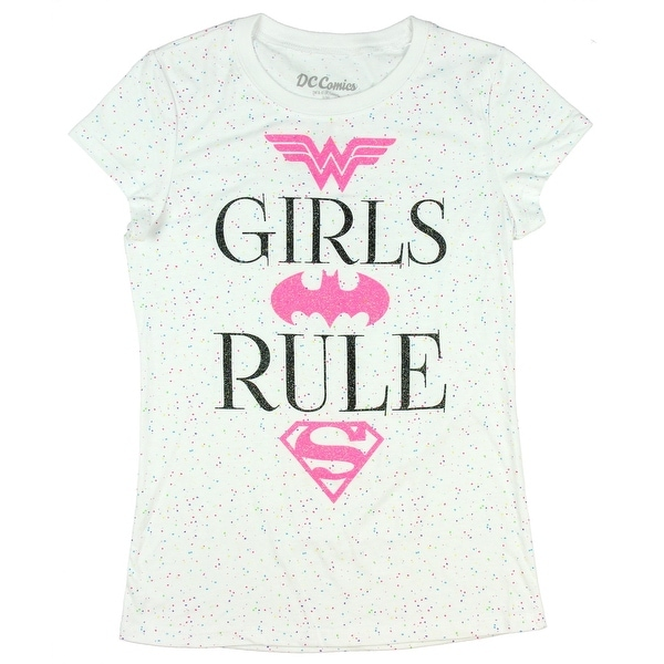 183ea27e Shop DC Super Hero Girls Rule Glitter T-Shirt Featuring Wonder Woman,  Batgirl & Supergirl - Free Shipping On Orders Over $45 - Overstock -  19315954
