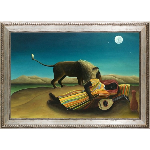 Henri Rousseau 'The Sleeping Gypsy' Hand Painted Oil Reproduction. Opens flyout.