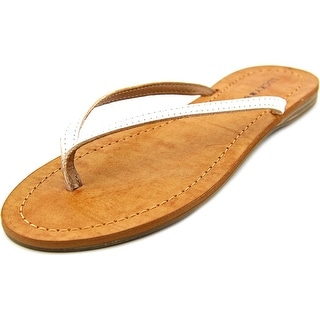 Lucky Brand Amberr Open Toe Leather Thong Sandal
