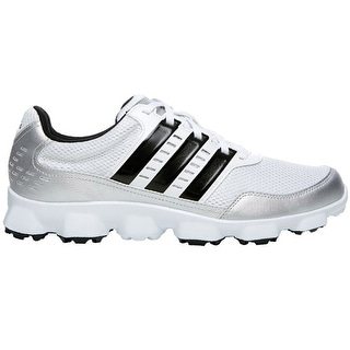 Adidas Men's Crossflex Sport Running White/Black/Metallic Silver Golf Shoes Q46670