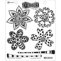 """Dyan Reaveley's Dylusions Cling Stamp Collections 8.5""""X7""""-Doodle Blooms"""