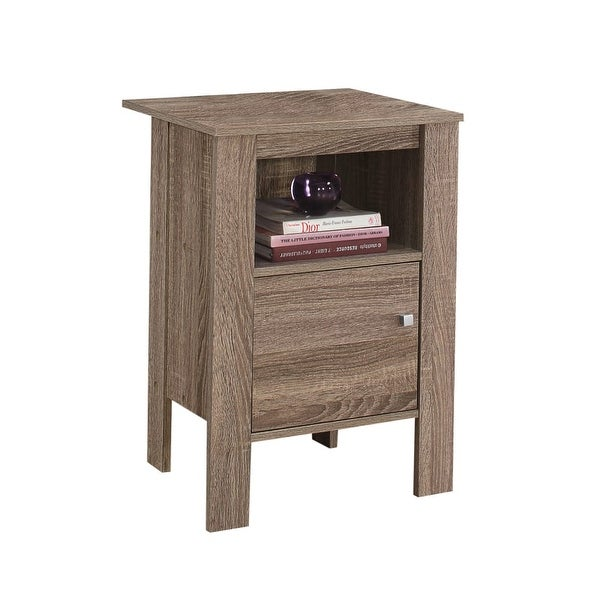 Monarch Specialties I 2136 17 Inch Wide Wood End Table   Dark Taupe