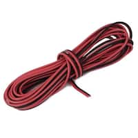 Indoor Outdoor Plastic Insulated Electrical Wire Cable Black Red 6 Meter