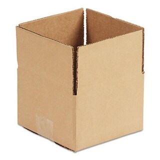 Brown Corrugated - Fixed-Depth Shipping Boxes, 8 x 6 x 4 in.