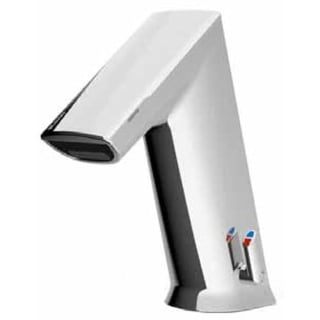 Sloan EFX250.502 Basys Mid Active Infrared Sensor Bathroom Faucet with Integral Side Mixer, Aerator and Battery - Silver