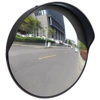 "vidaXL Convex Traffic Mirror PC Plastic Black 12"" Outdoor"
