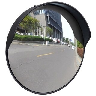 "vidaXL Convex Traffic Mirror PC Plastic Black 12"" Outdoor"