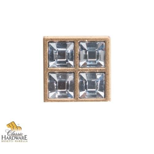 Bosetti Marella 101612 Crystal 1 Inch Square Cabinet Knob