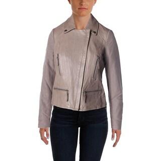 Joie Womens Seabrooke Leather Panel Jacket - M