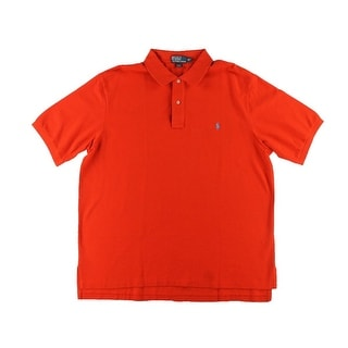 Polo Ralph Lauren Mens Big & Tall Solid Short Sleeves Polo