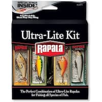 Rapala Ultra Lite Kit Fishing Lures with Collectable Shad Rap Key Ring - multi-color