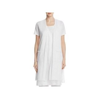 Eileen Fisher Womens Cardigan Sweater Long Casual