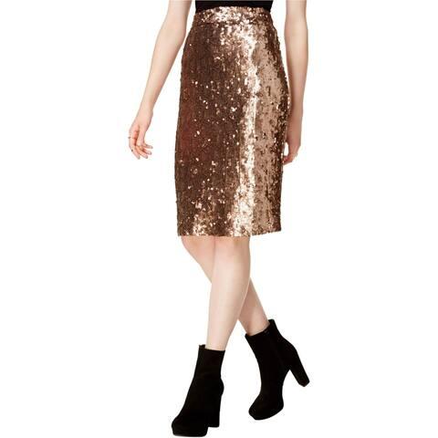 Bar Iii Womens Sequined A-Line Skirt