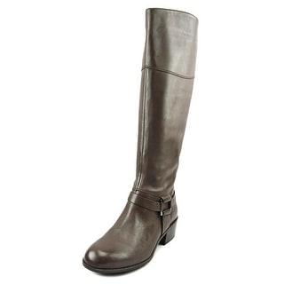Alfani Biliee Women  Round Toe Leather Brown Knee High Boot