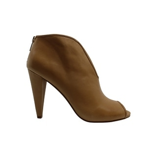 Vince Camuto Women's Shoes Amber Leather Peep Toe Ankle Fashion Boots - 8