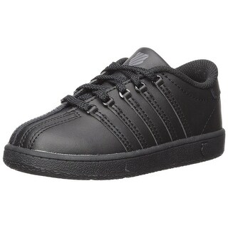 Kids K-Swiss Girls Classic VN Leather Low Top Lace Up Walking Shoes
