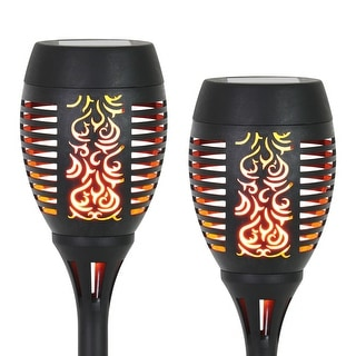Exhart Solar Dancing Flame Torch Stake Set of 2, 4 by 21 Inches