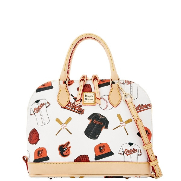 Dooney & Bourke MLB Orioles Zip Zip Satchel (Introduced by Dooney & Bourke at $248 in Feb 2015) - White