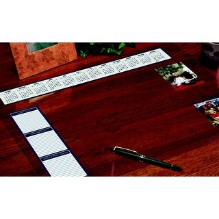 House of Doolittle Vinyl Heavy Gauge Desk Protector with Reference Calendars and Note Strip, 19 x 24 Inches, Clear