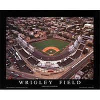 ''Wrigley Field - Chicago, Illinois'' by Mike Smith Architecture Art Print (22 x 28 in.)