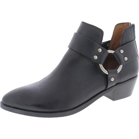 Frye Womens Ray Ankle Boots Slip On Booties