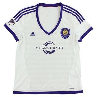 Adidas Womens Orlando City Replica Jersey White - white/purple/yellow