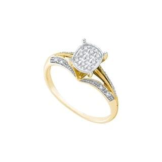 1/10Ctw Diamond Fashion Bridal Ring - White
