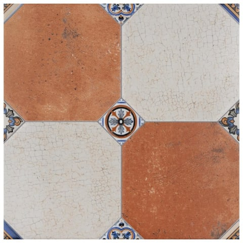 SomerTile 13.125x13.125-inch Huerta Jet Mix Ceramic Floor and Wall Tile