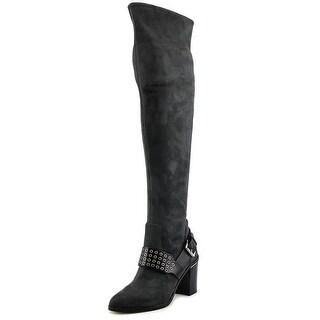 Michael Michael Kors Brody OTK Boot Women  Suede Gray Over the Knee Boot
