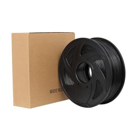 ABS 3D Printer Filament, 1.75mm 1KG, Black - N/A