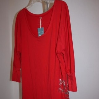 University Of Utah Womens Size Large L Designer 3 4 Sleeve Long Tunic Shirt