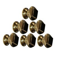 6 Cabinet Knob Bright Solid Brass 1 1/4 Dia |Renovator's Supply