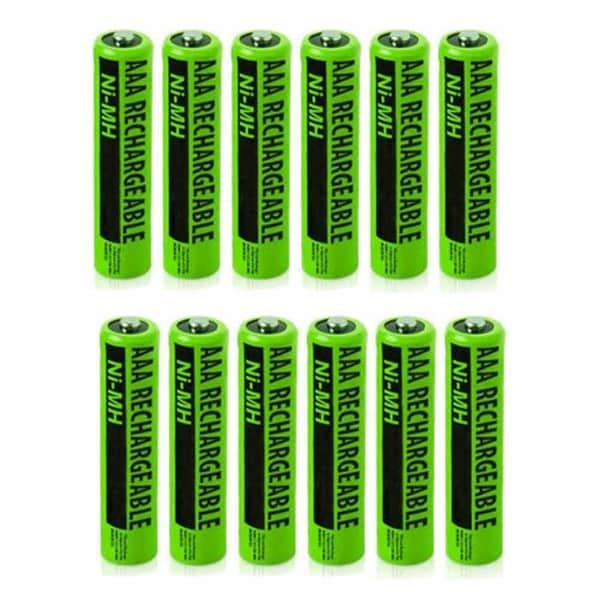 Replacement for Panasonic AAA Batteries - Fits KX-TGA470 KX-TGA931T KX-TGEA20B Cordless Phones (12-Pack)