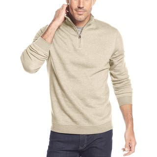 John Ashford Quarter Zip Fleece Mock Neck Sweatshirt Oatmeal Heather Large|https://ak1.ostkcdn.com/images/products/is/images/direct/8b7d637958568f127eef164bab538adcb135bdae/John-Ashford-Quarter-Zip-Fleece-Mock-Neck-Sweatshirt-Oatmeal-Heather-Large.jpg?impolicy=medium