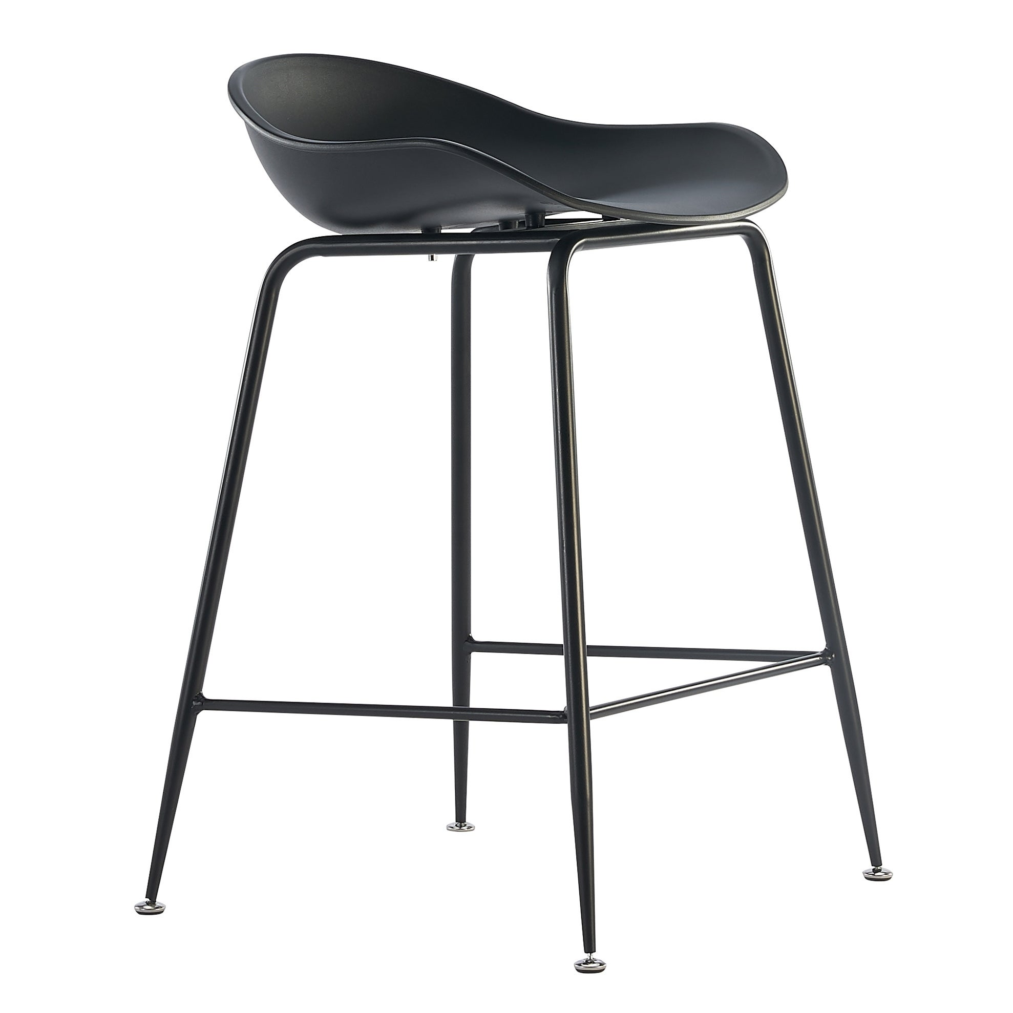 Image of: Shop Black Friday Deals On 25 Seat Height Molded Plastic Bar Stool Modern Barstool Counter Stools With Backs And Armless Metal Legs On Sale Overstock 28496394