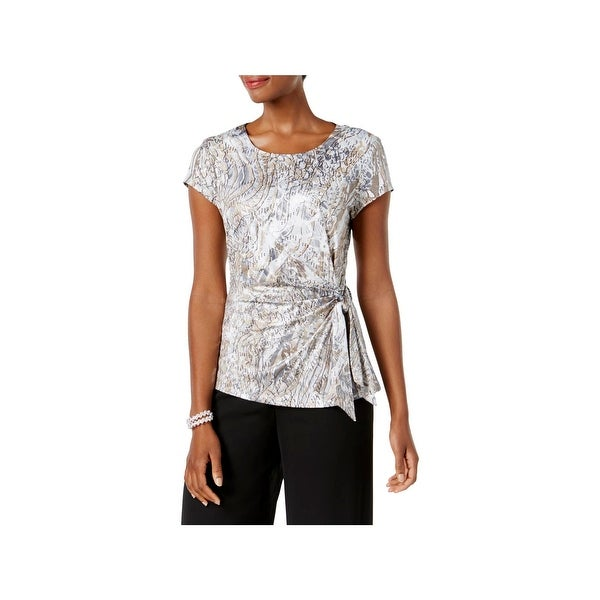 ab2d4cb9f47c2 Shop MSK Womens Blouse Sequined Gathered - Free Shipping On Orders ...