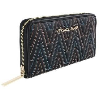 Versace EE3VRBPY2 Black/Multicolor Continental Wallet - 8-4-1