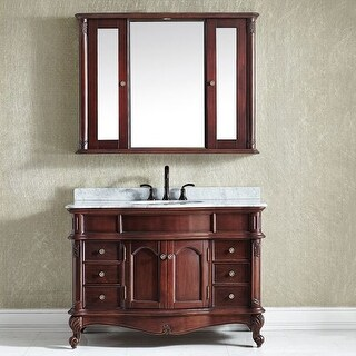 """Miseno MV718048 47-1/5"""" Free Standing Single Vanity Set with Wood Cabinet, Marble Vanity Top, Ceramic Undermount Sink and Finish"""