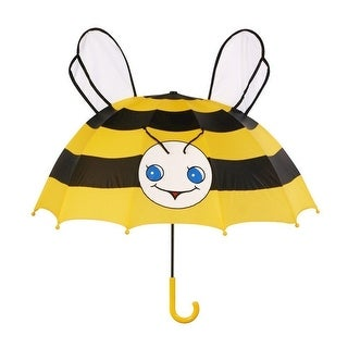 Girls Yellow Black Child Size Lightweight Ears Bee Umbrella