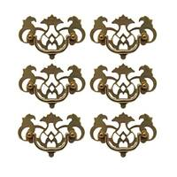 6 Chippendale Bail Pulls Bright Solid Brass 2 1/4   | Renovator's Supply