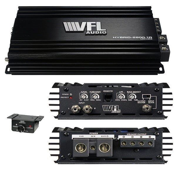 American Bass VFLHYBRID28001D Vfl Hybrid Amplifier Linkable 2800 Watts D Class