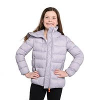 Save The Duck Lightweight Girls Bomber With Hood In Purple