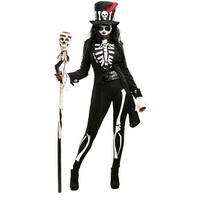 Voodoo Skeleton Womens Costume