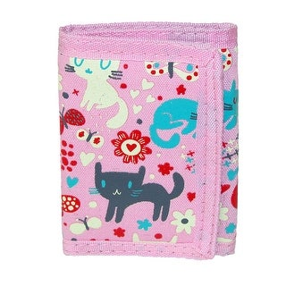 CTM® Kid's Cat and Butterfly Print Trifold Wallet - Pink - One size