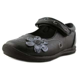 Rachel Shoes Alisia Toddler Round Toe Synthetic Black Flats