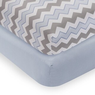 Bedtime Originals Blue Mod Monkey 2-Pack Fitted Crib Sheets